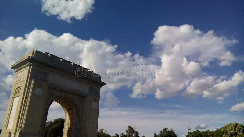 Clouds over Bucharest VIII stock images
