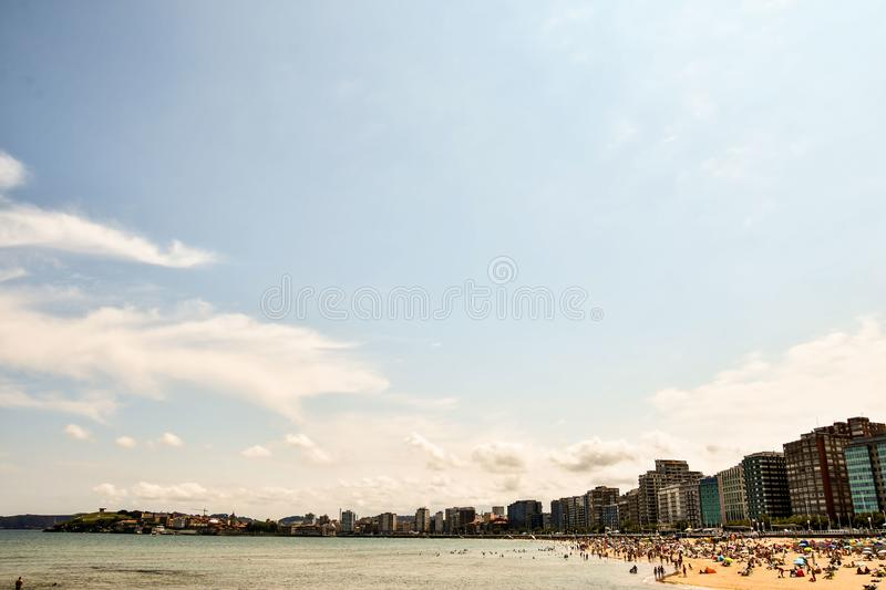 Clouds over the city time lapse, photo as a background. Digital image royalty free stock photo