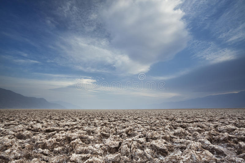 Clouds over Death Valley royalty free stock image