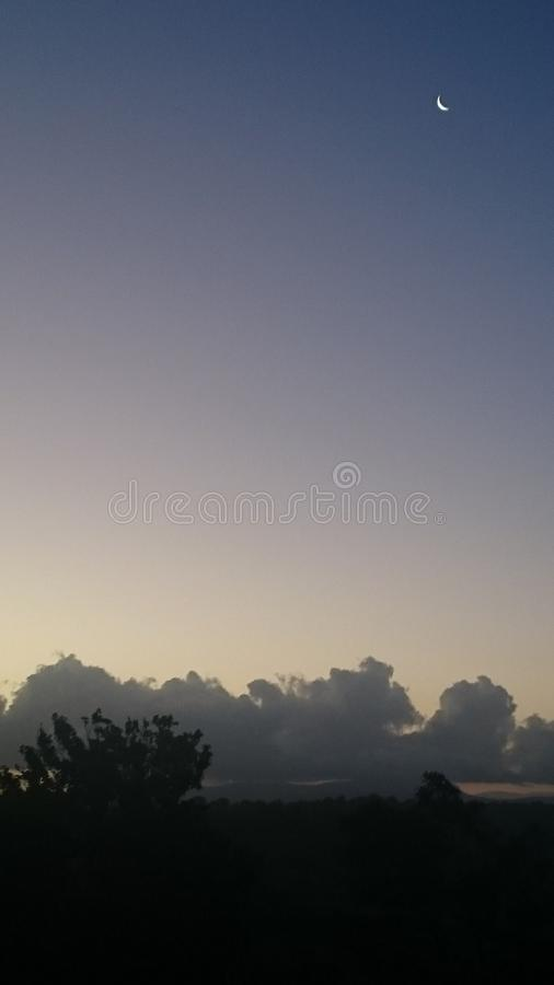 Clouds over Ewingsdale royalty free stock image