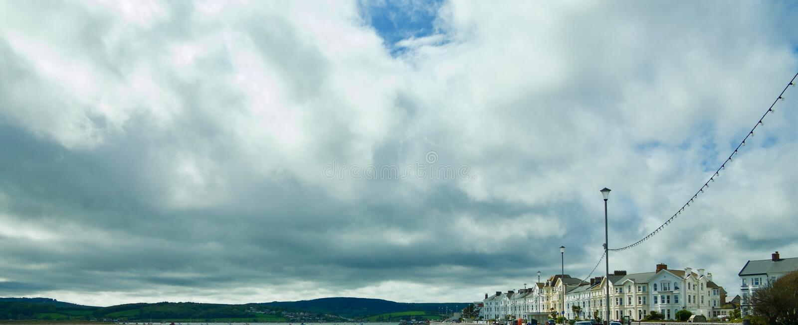 Clouds over Exmouth. Scenes of Devon Exmouth Devon England united kingdom royalty free stock photography