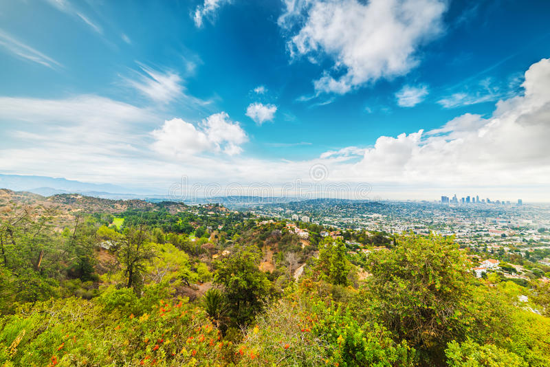 Clouds over Los Angeles. California royalty free stock photography