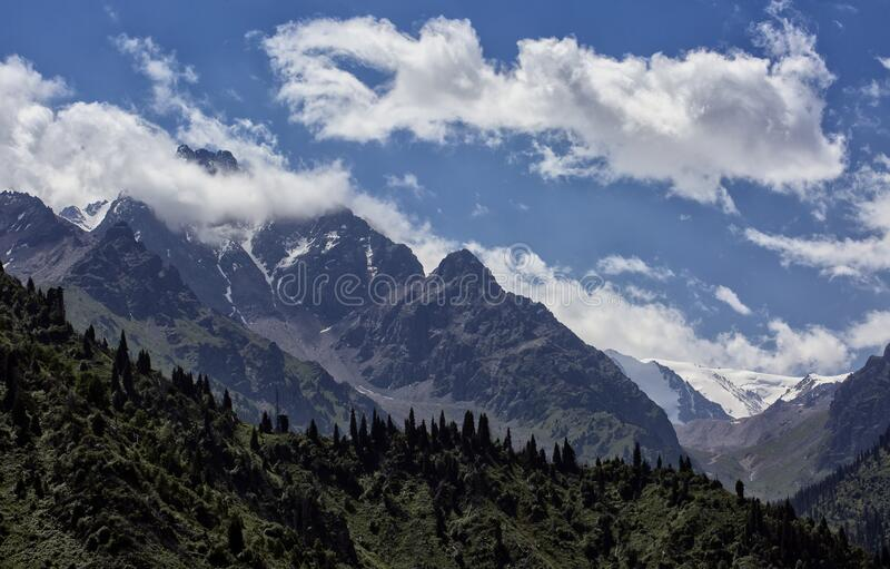 Clouds over the mountains. royalty free stock photos