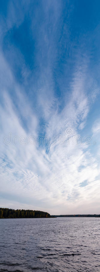 Clouds over the river royalty free stock image