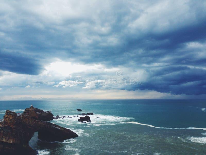Clouds Over Rocky Coast Free Public Domain Cc0 Image