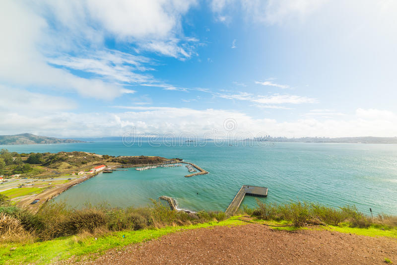 Clouds over San Francisco bay. California stock image