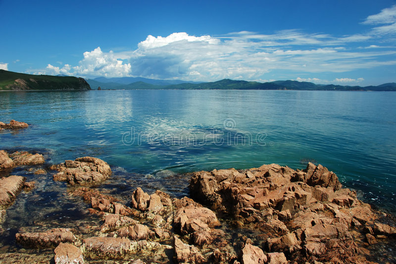 Download Clouds over sea stock image. Image of primorye, beauty - 3675505