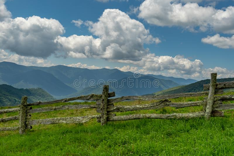 Clouds Over Smoky Mountains from Hemphill Bald royalty free stock photo