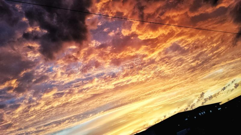 Cotton candy morning skies royalty free stock photos
