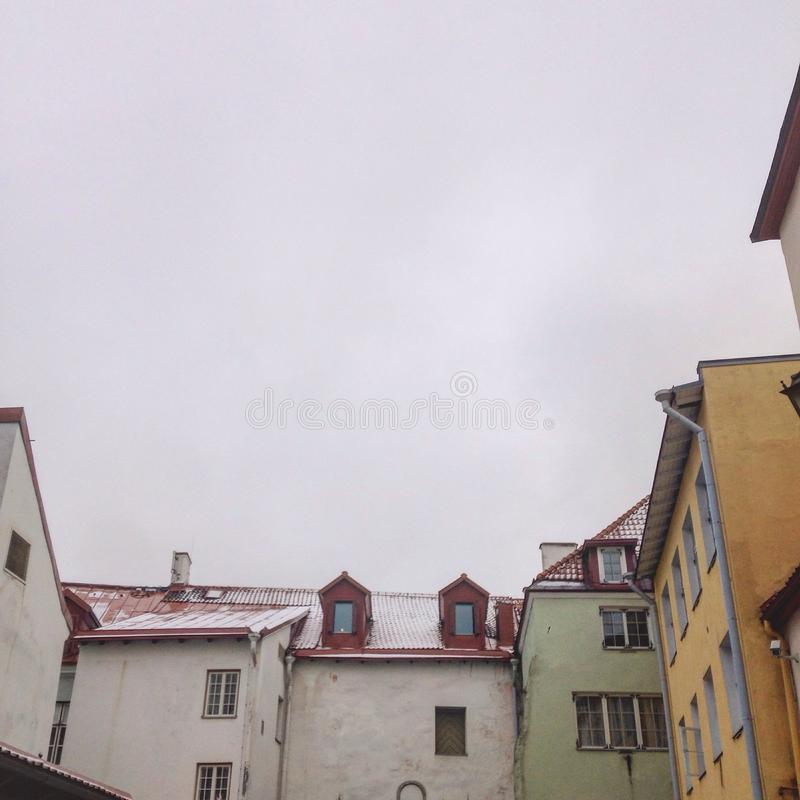 Clouds over Tallin stock photography