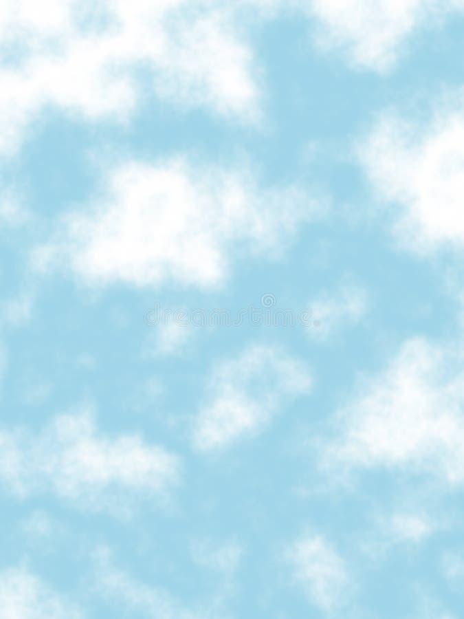clouds pösigt royaltyfri illustrationer