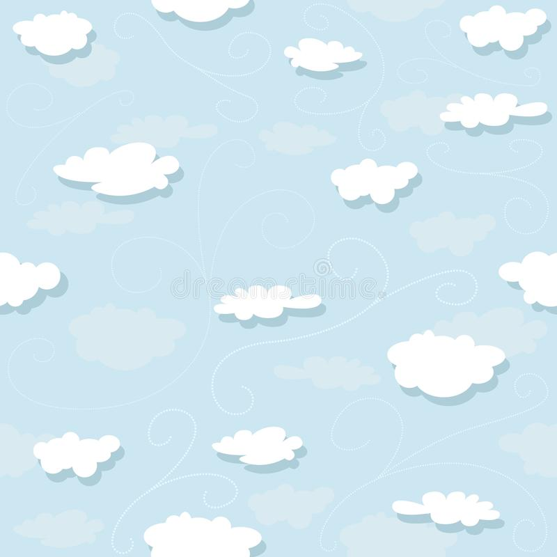Download Clouds Pattern stock vector. Illustration of template - 24806646
