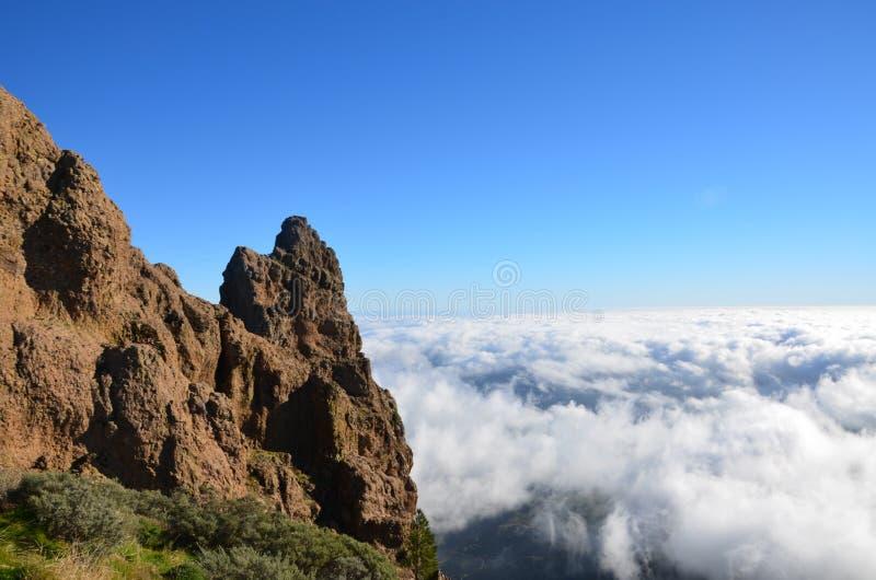 Clouds Pico de las Nieves 免版税库存图片