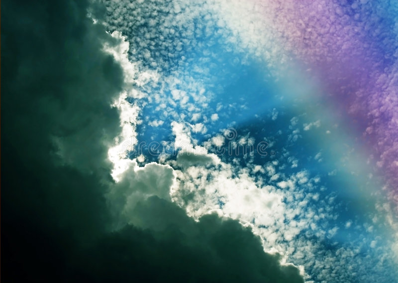 Download Clouds and Rainbow Colors stock photo. Image of clouds - 7490880