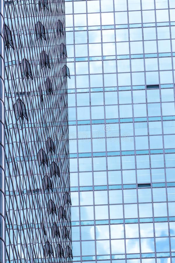 Clouds Reflected in Windows of Modern Office Building. In Sao Paulo city, Brazil royalty free stock photos
