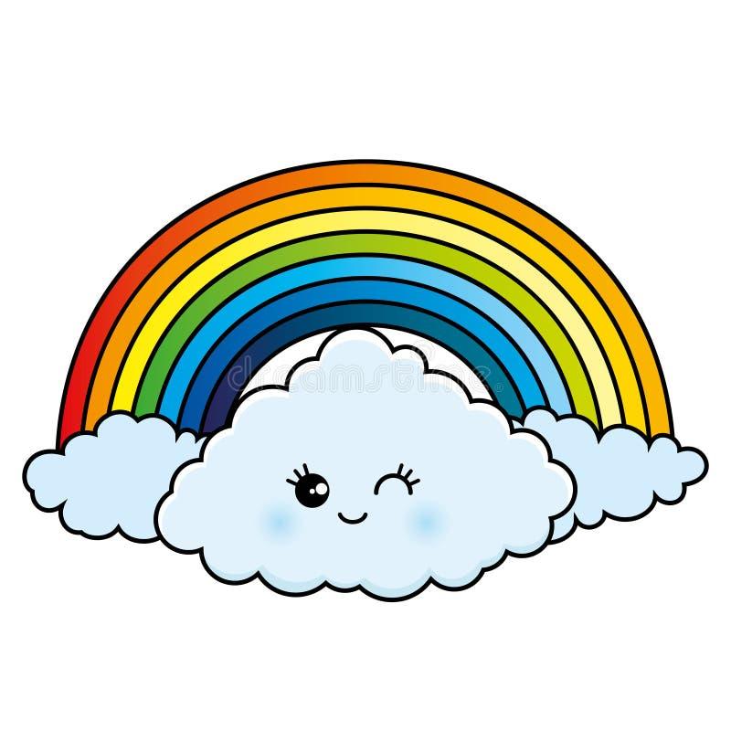clouds regnbågen stock illustrationer