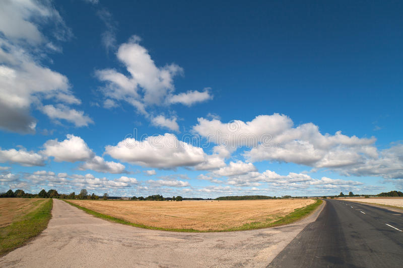 Download Clouds And Roads. Stock Photos - Image: 26527833