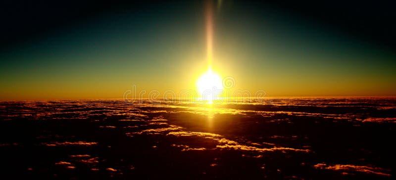 clouds rosig dawn1 royaltyfria bilder