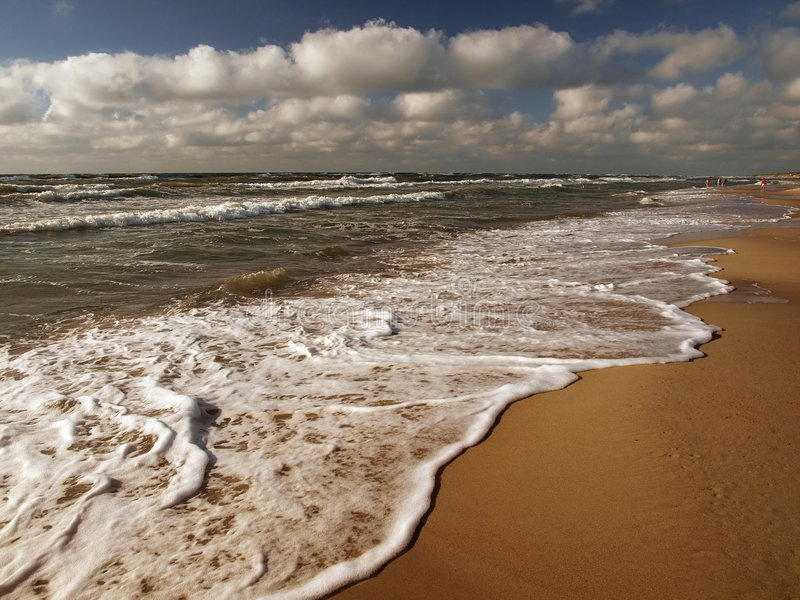 Clouds and sea. royalty free stock photography