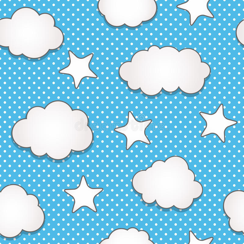 Clouds seamless pattern stock illustration