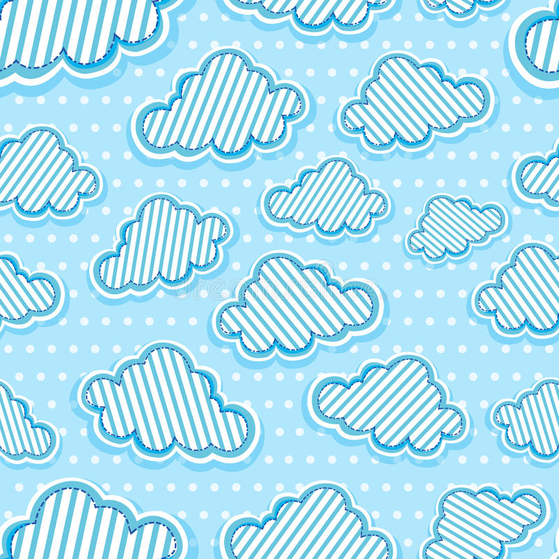 Download Clouds seamless pattern stock vector. Illustration of heaven - 24487369