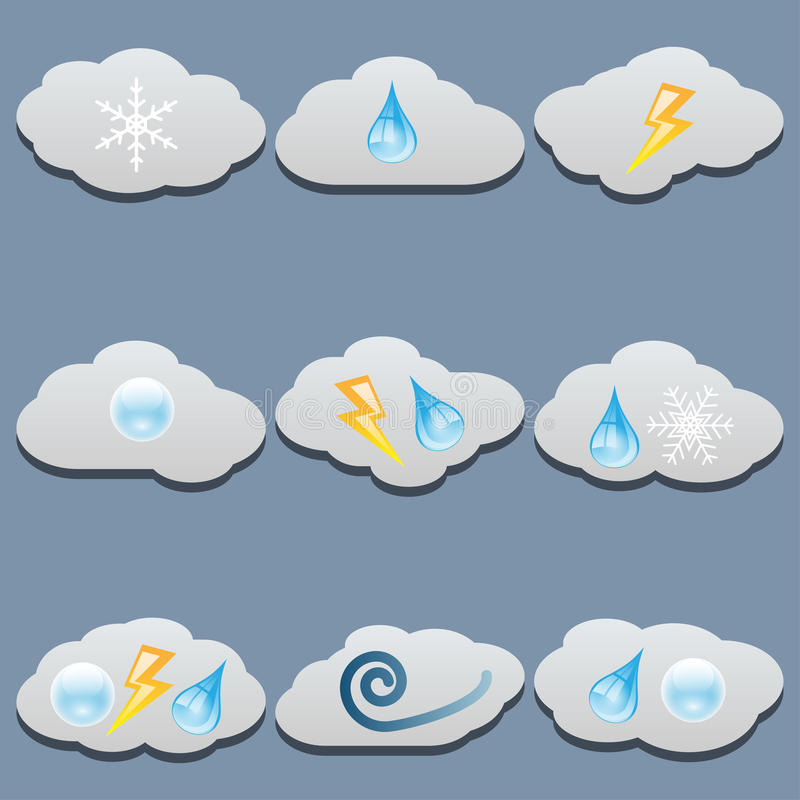 Clouds set stock illustration