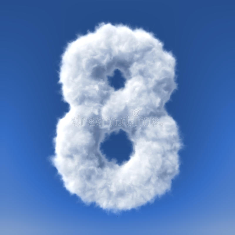Download Clouds In Shape Of The Letter Stock Illustration - Image: 34385409
