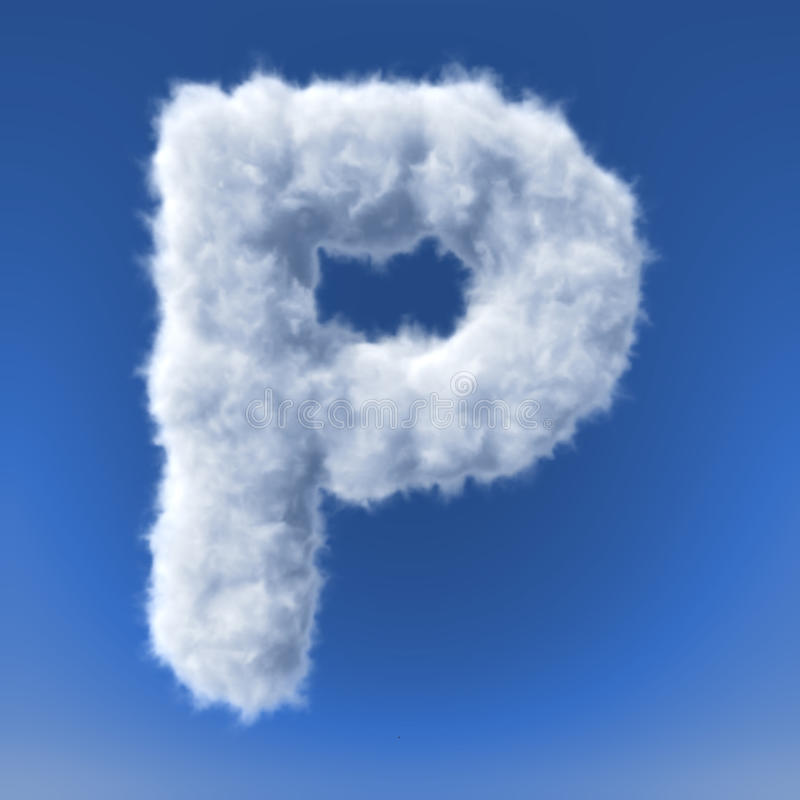 Download Clouds In Shape Of The Letter Stock Illustration - Image: 34385427