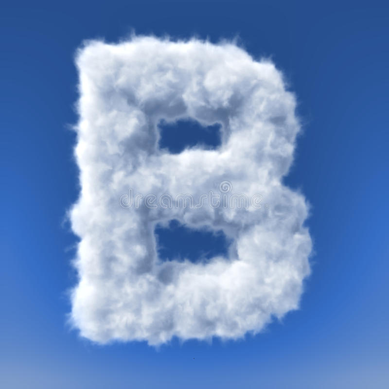 Download Clouds In Shape Of The Letter Stock Illustration - Image: 34385640