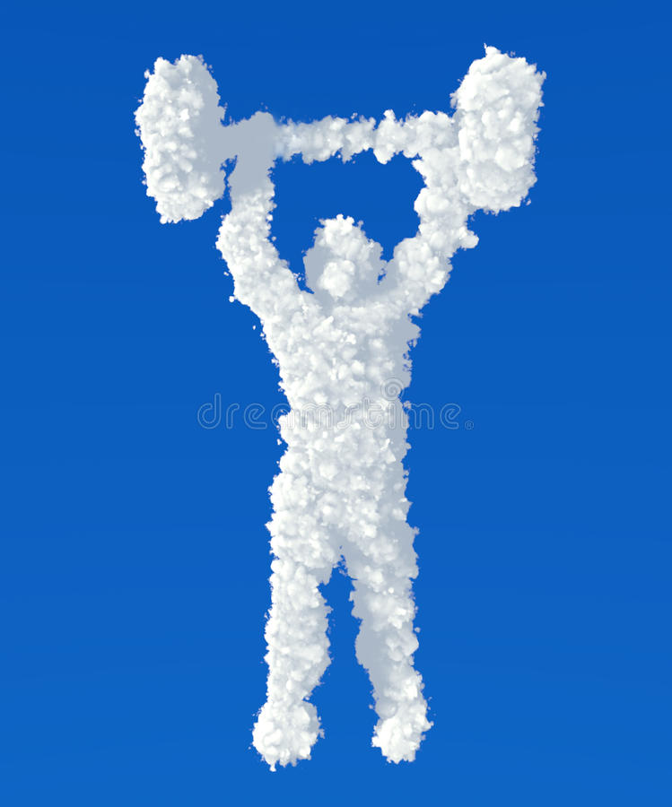 Download Clouds In Shape Of Powerlifter Icon Stock Illustration - Image: 36780713