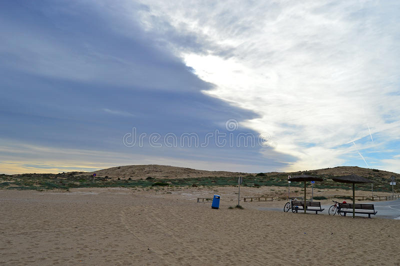 Clouds Showing A Weather Front stock photo