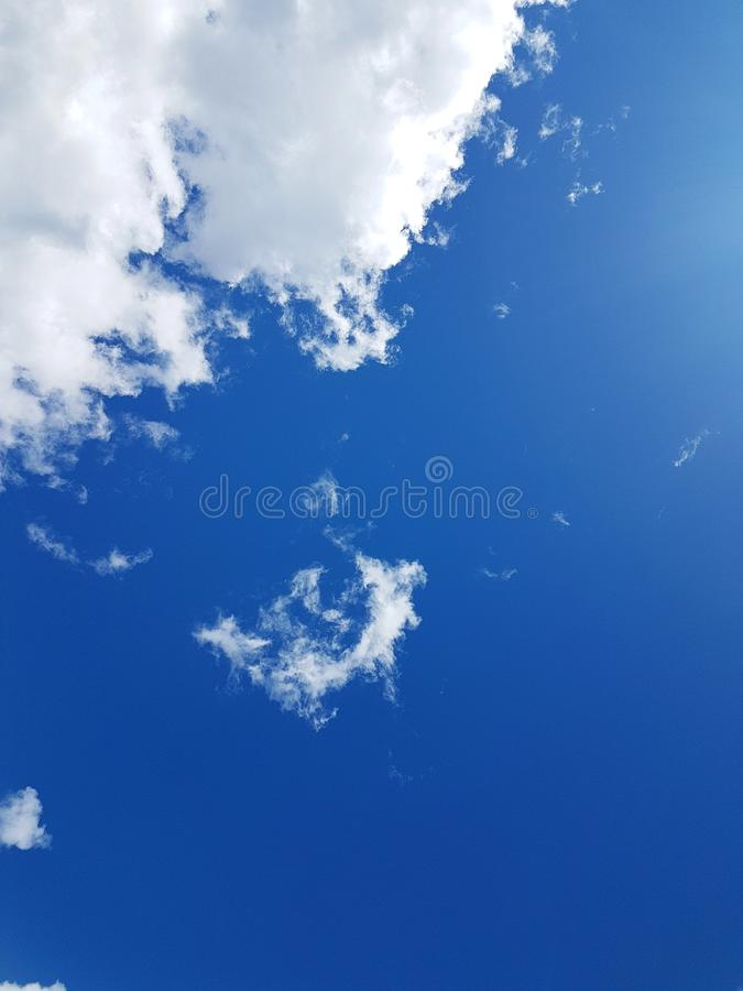 Clouds in the sky background. Blue sky with clouds. Cloudscape background stock photos