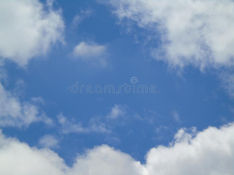 Clouds sky blue summer hope stock photo