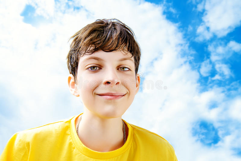 Download Clouds on the sky stock image. Image of child, relaxing - 41815415
