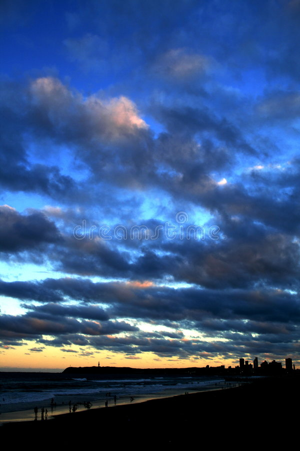 Clouds, sky, city stock photography