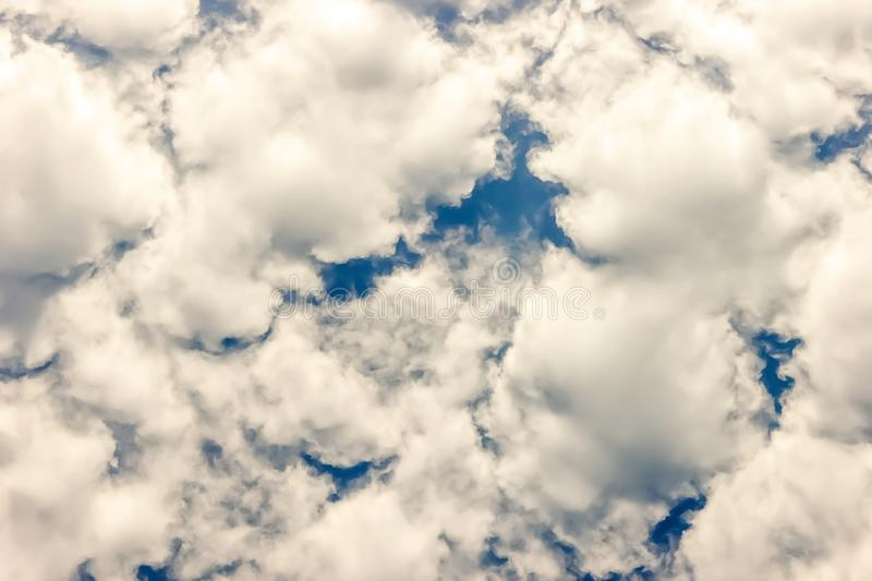 Clouds in the sky, close up royalty free stock images