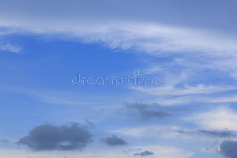 Clouds on the sky in the daytime royalty free stock image