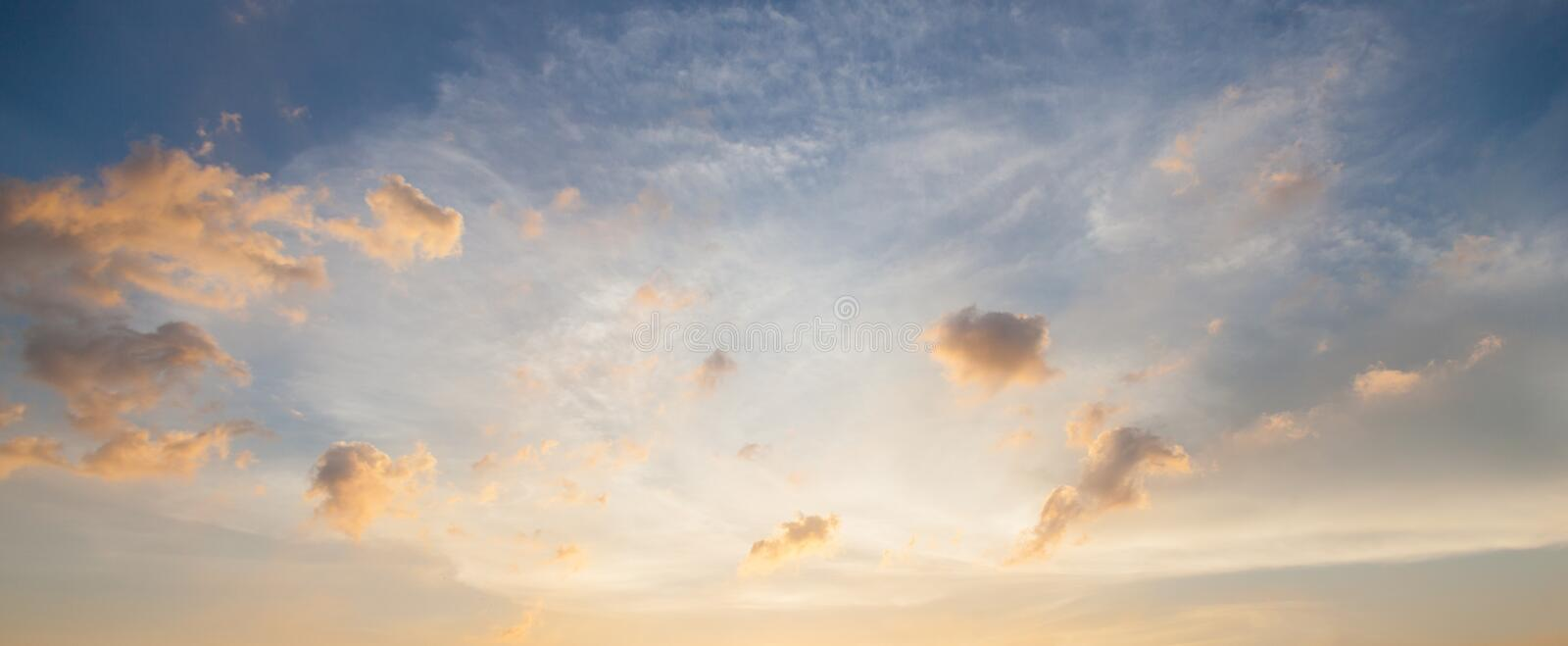 Clouds and sky in the evening. royalty free stock photos