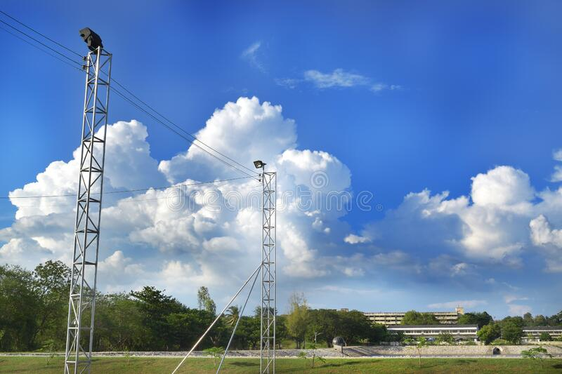 Clouds in the sky and the ground below royalty free stock photography