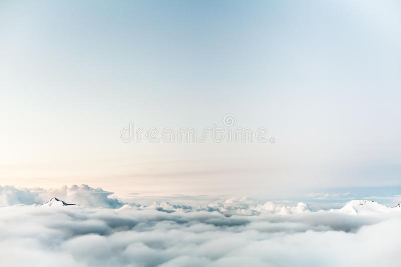 Clouds Sky Mountain Blue stock photo