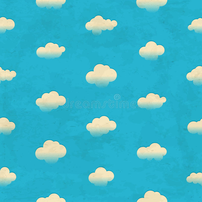 Clouds in the sky. Seamless pattern vector illustration