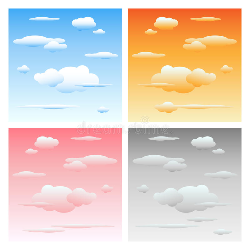 Clouds and sky - set stock illustration