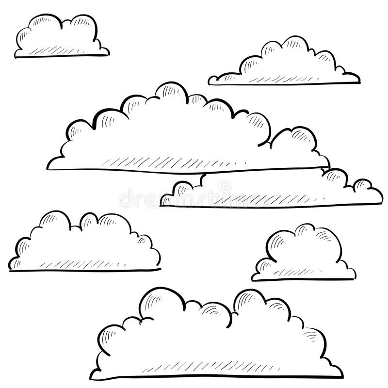 Clouds And Sky Sketch Stock Images