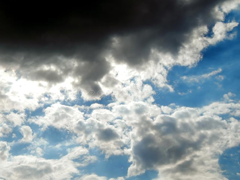 Clouds in the sky after a strong hurricane. Close-up royalty free stock photo