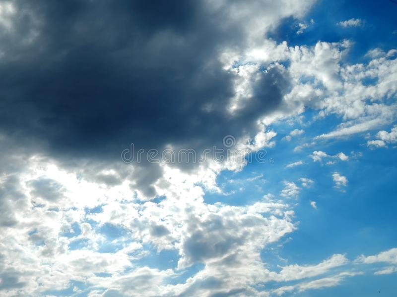 Clouds in the sky after a strong hurricane. Close-up royalty free stock photos