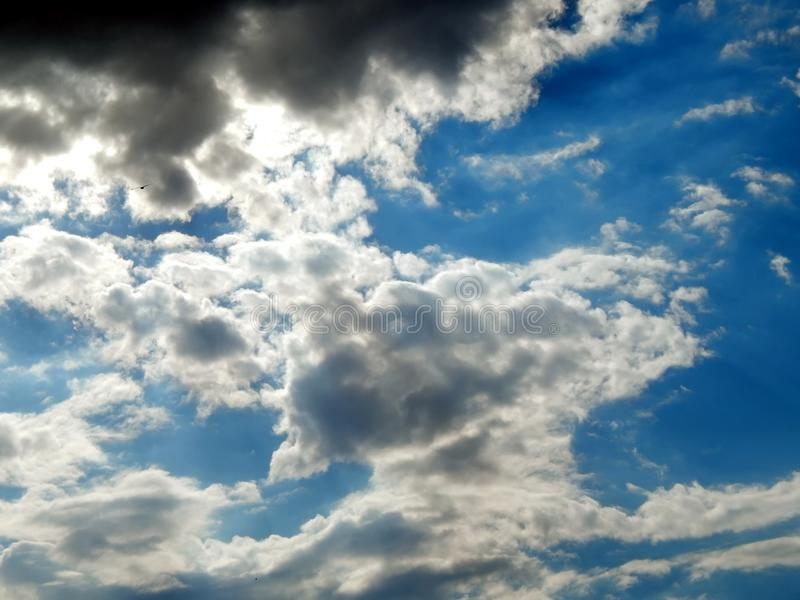 Clouds in the sky after a strong hurricane. Close-up royalty free stock photography