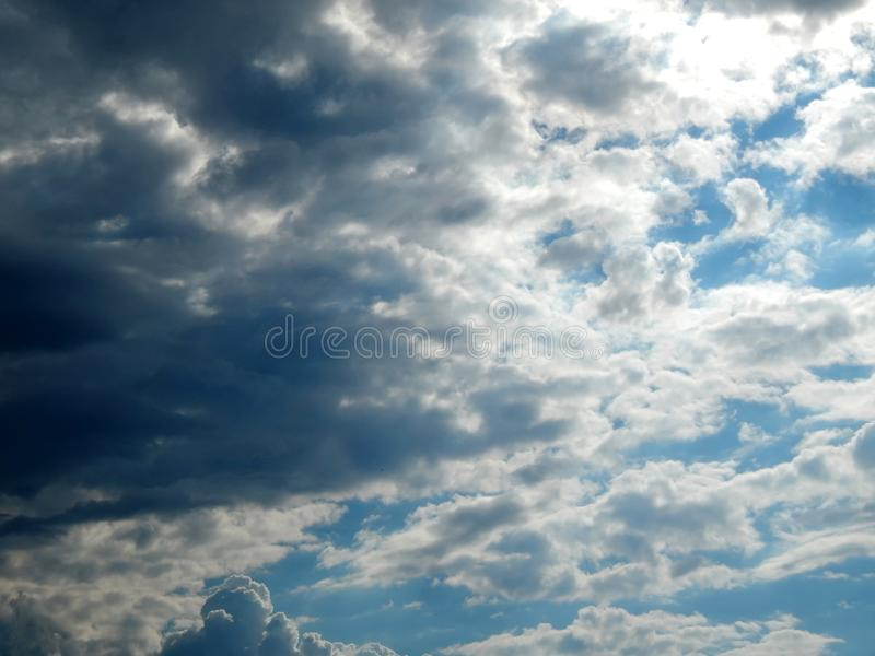 Clouds in the sky after a strong hurricane. Close-up royalty free stock image
