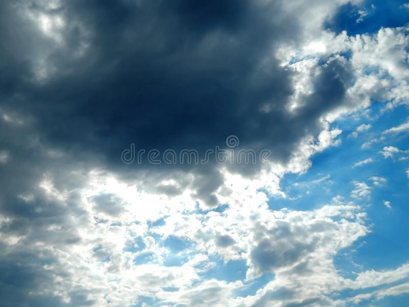 Clouds in the sky after a strong hurricane. Close-up stock images