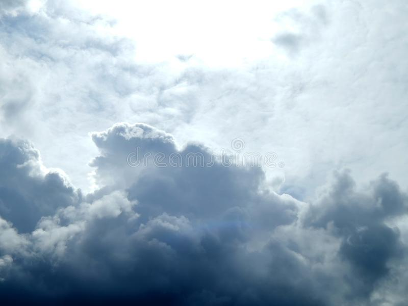 Clouds in the sky after a strong hurricane. Closeup royalty free stock photos