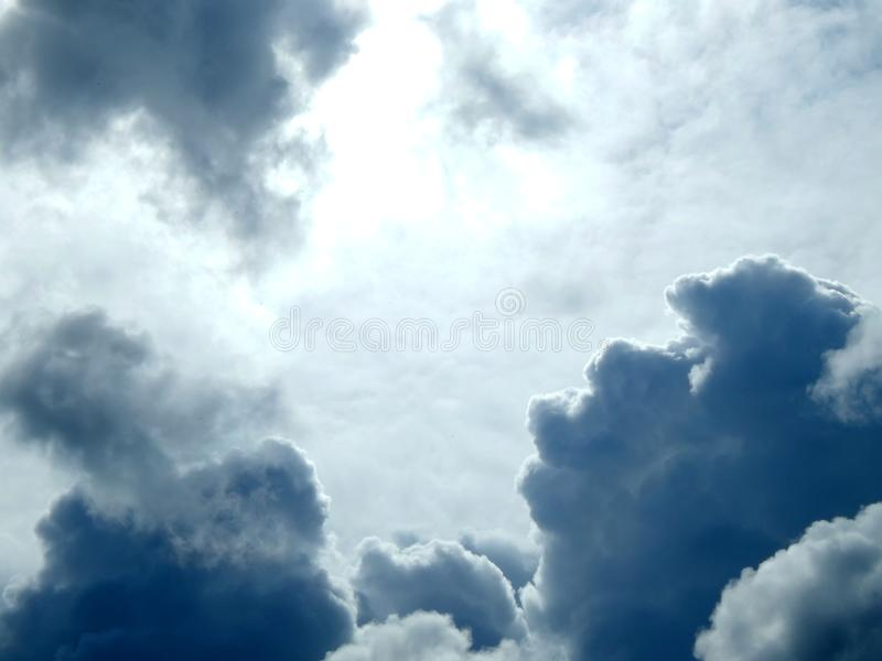 Clouds in the sky after a strong hurricane. Closeup stock photography